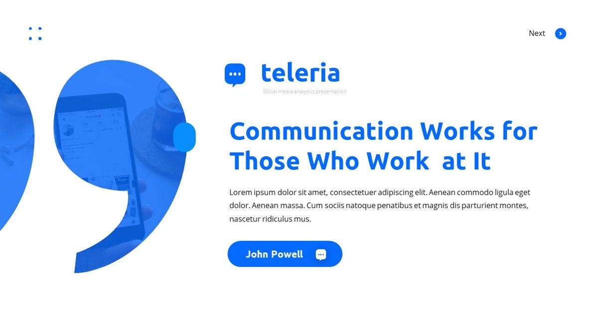 Teleria - Social Media Powerpoint Template, Slide 5, 05898, Data Driven Diagrams and Charts — PoweredTemplate.com