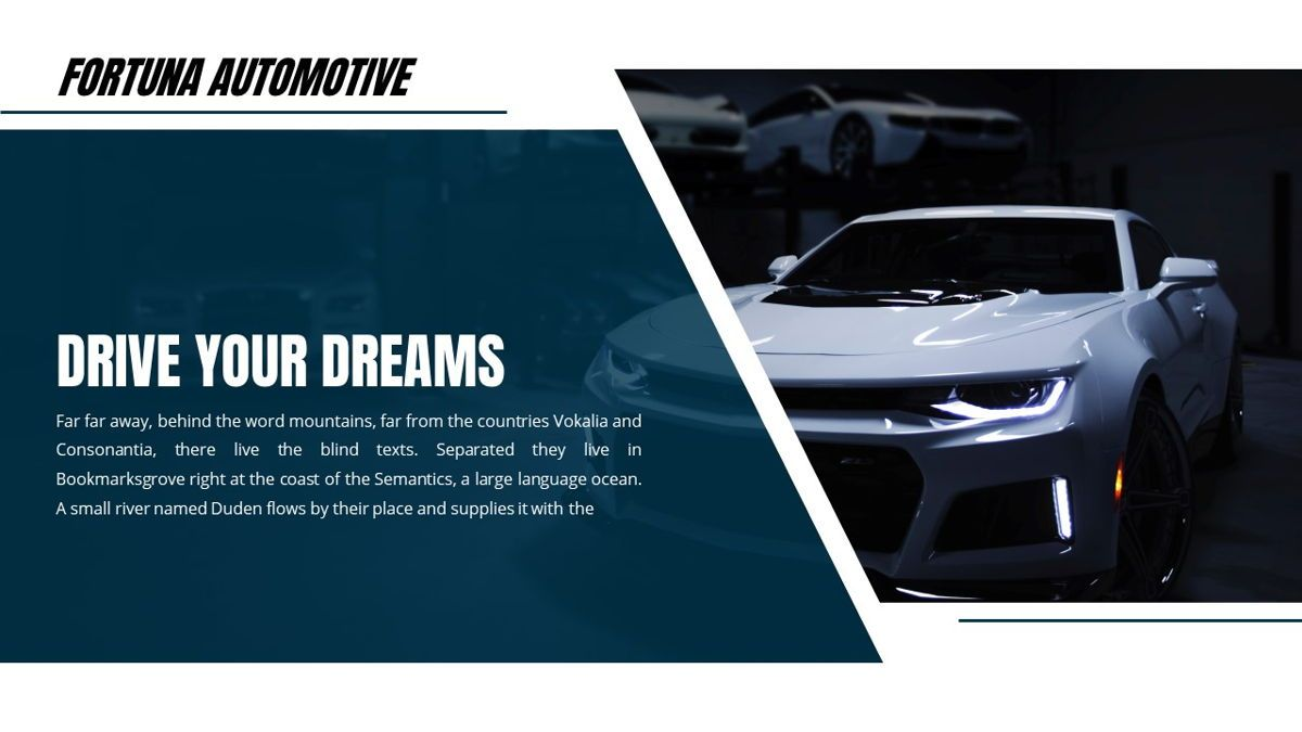Fortuna - Automotive Powerpoint Template, Slide 2, 05899, Data Driven Diagrams and Charts — PoweredTemplate.com