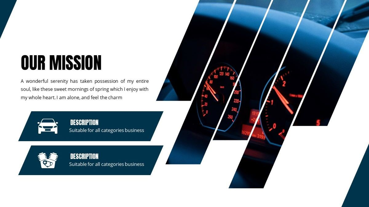 Fortuna - Automotive Powerpoint Template, Slide 6, 05899, Data Driven Diagrams and Charts — PoweredTemplate.com