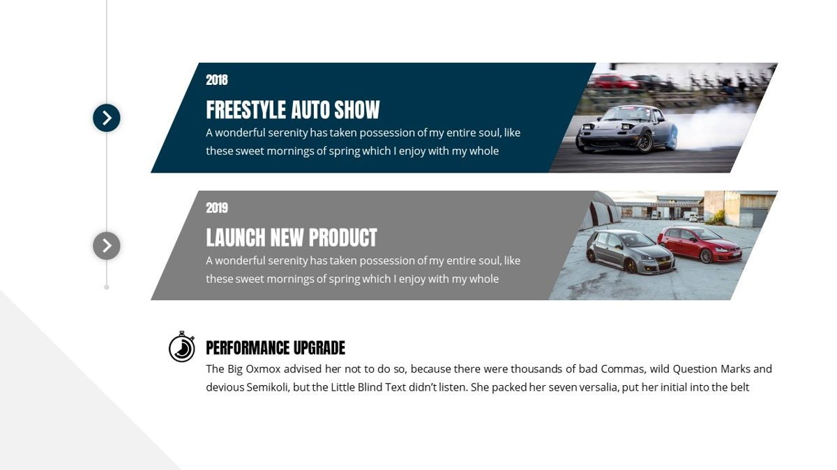 Fortuna - Automotive Powerpoint Template, Slide 9, 05899, Data Driven Diagrams and Charts — PoweredTemplate.com