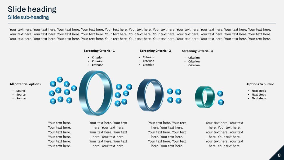 Horizontal Project Selection Funnel, 05900, Business Models — PoweredTemplate.com
