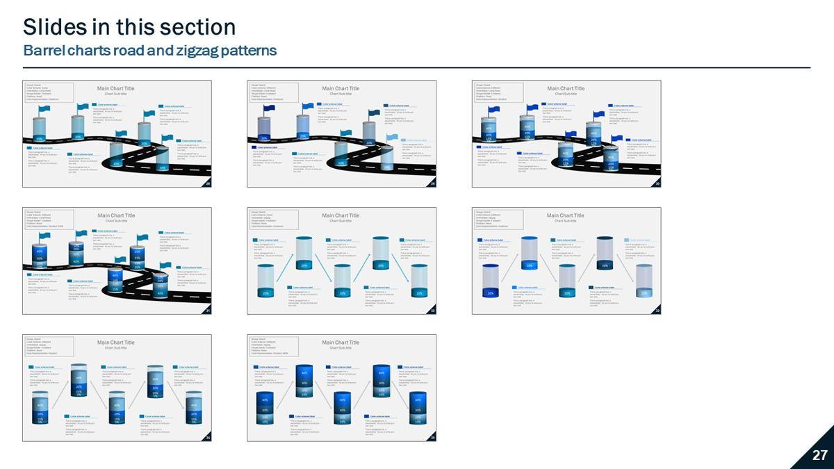 Data-driven column charts – Barrel style, Slide 6, 05901, Data Driven Diagrams and Charts — PoweredTemplate.com