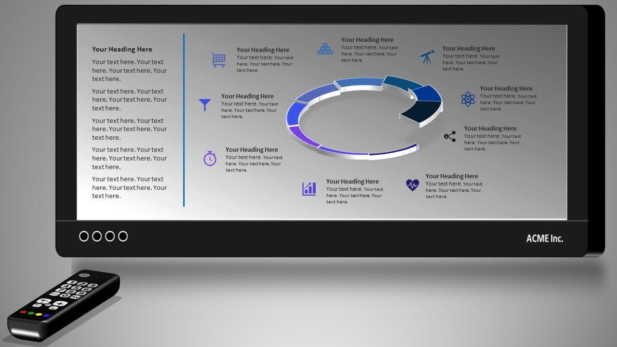 Nine Phase Discussion Deck, 05904, Business Models — PoweredTemplate.com