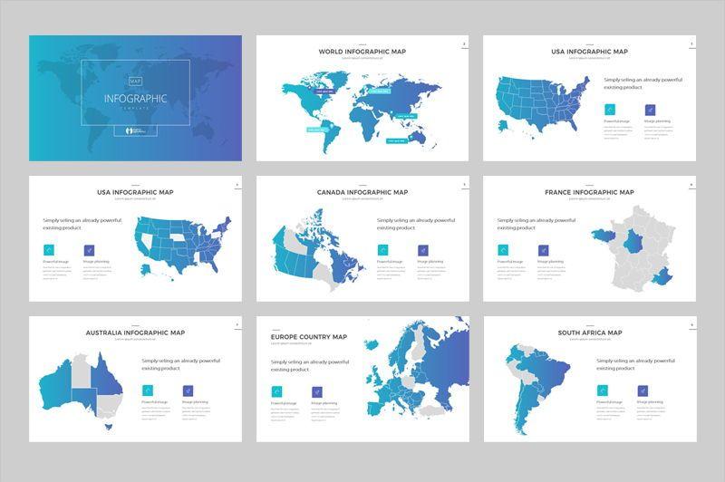 Map Infographic Powerpoint Template, Slide 2, 05905, Presentation Templates — PoweredTemplate.com