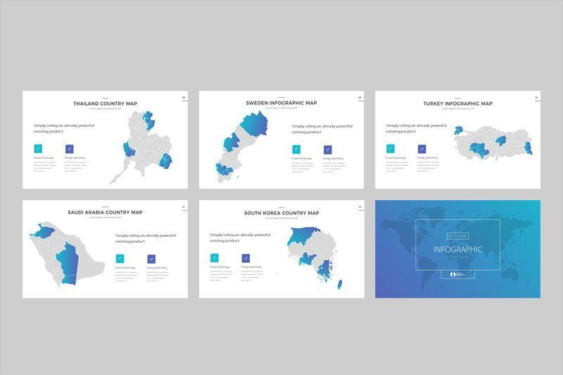 Map Infographic Powerpoint Template, Slide 5, 05905, Presentation Templates — PoweredTemplate.com