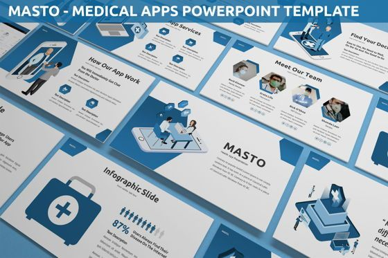 Data Driven Diagrams and Charts: Masto - Medical Apps Powerpoint Template #05906