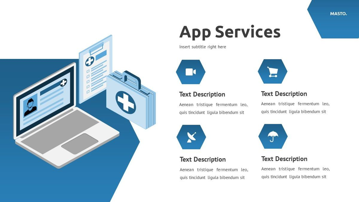 Masto - Medical Apps Powerpoint Template, Slide 10, 05906, Data Driven Diagrams and Charts — PoweredTemplate.com