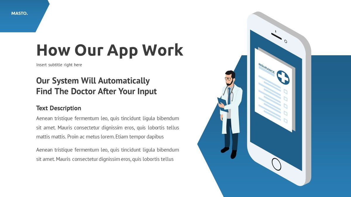 Masto - Medical Apps Powerpoint Template, Slide 17, 05906, Data Driven Diagrams and Charts — PoweredTemplate.com