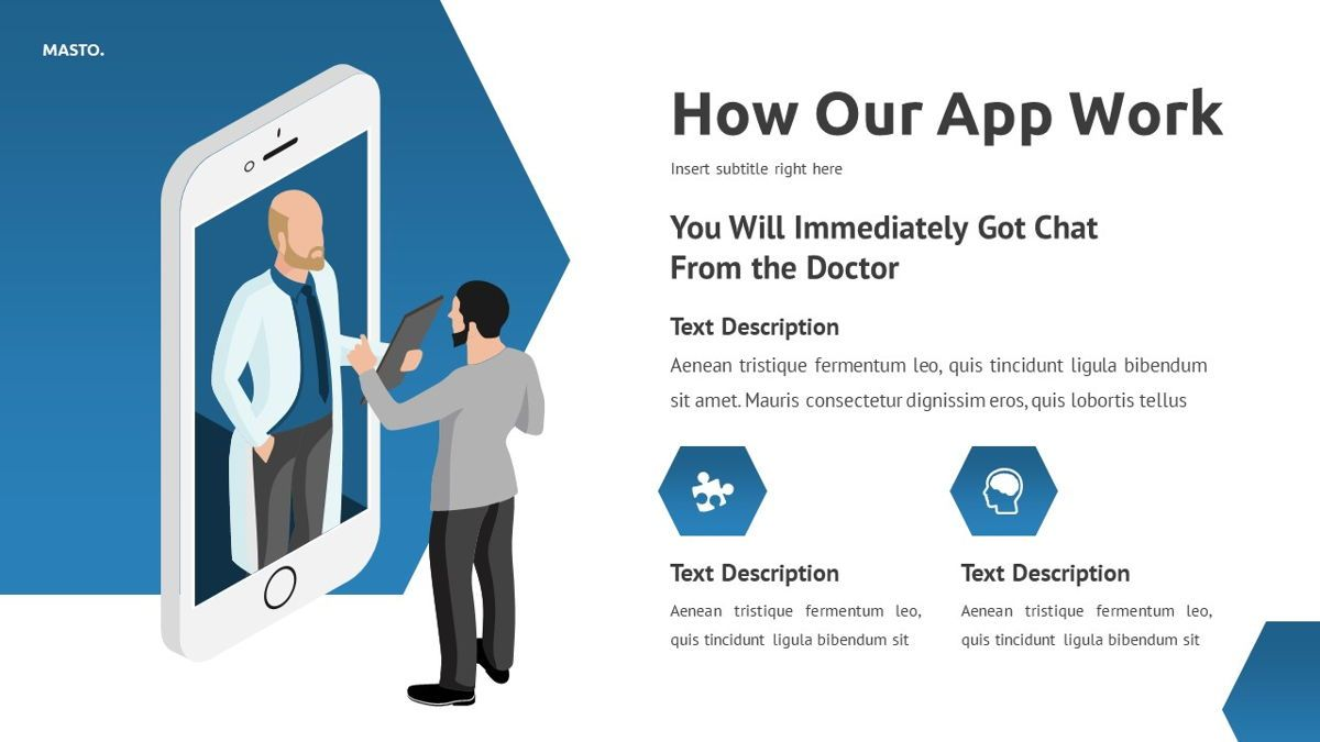 Masto - Medical Apps Powerpoint Template, Slide 18, 05906, Data Driven Diagrams and Charts — PoweredTemplate.com