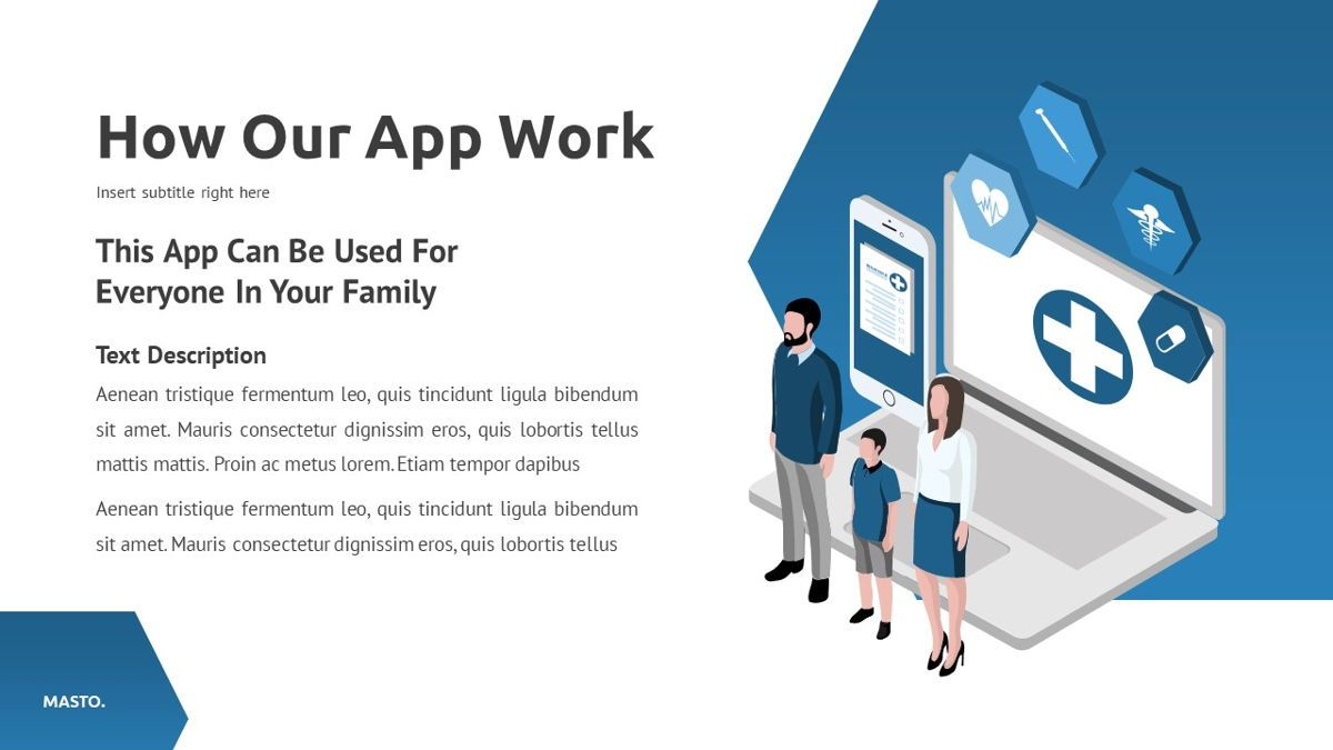Masto - Medical Apps Powerpoint Template, Slide 19, 05906, Data Driven Diagrams and Charts — PoweredTemplate.com