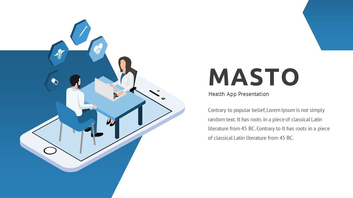 Masto - Medical Apps Powerpoint Template, Slide 2, 05906, Data Driven Diagrams and Charts — PoweredTemplate.com