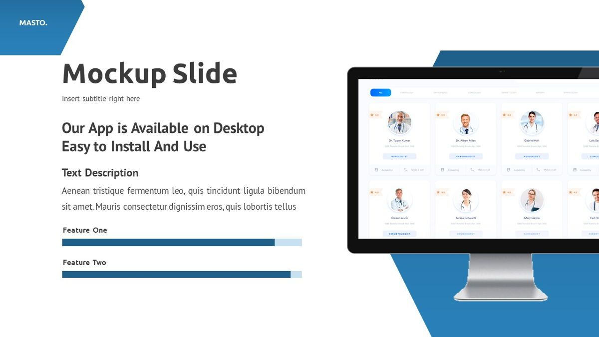 Masto - Medical Apps Powerpoint Template, Slide 21, 05906, Data Driven Diagrams and Charts — PoweredTemplate.com