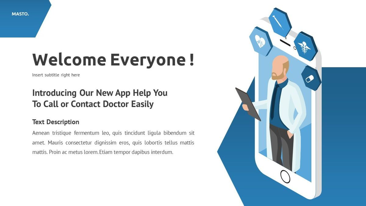 Masto - Medical Apps Powerpoint Template, Slide 3, 05906, Data Driven Diagrams and Charts — PoweredTemplate.com
