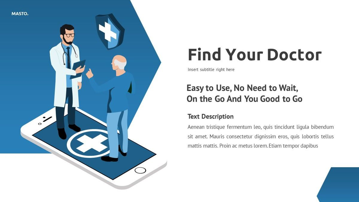 Masto - Medical Apps Powerpoint Template, Slide 6, 05906, Data Driven Diagrams and Charts — PoweredTemplate.com