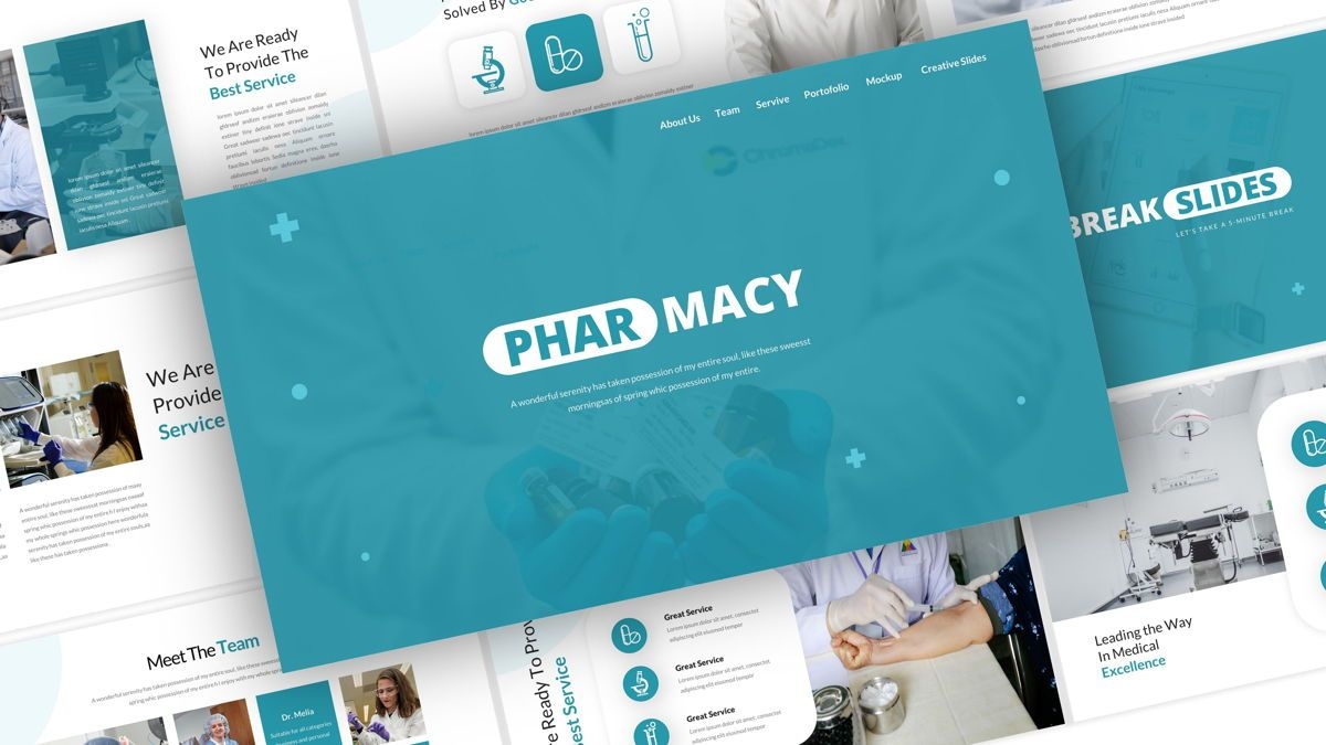 Pharmacy – Creative Business Google Slides Template, 05908, Business Models — PoweredTemplate.com