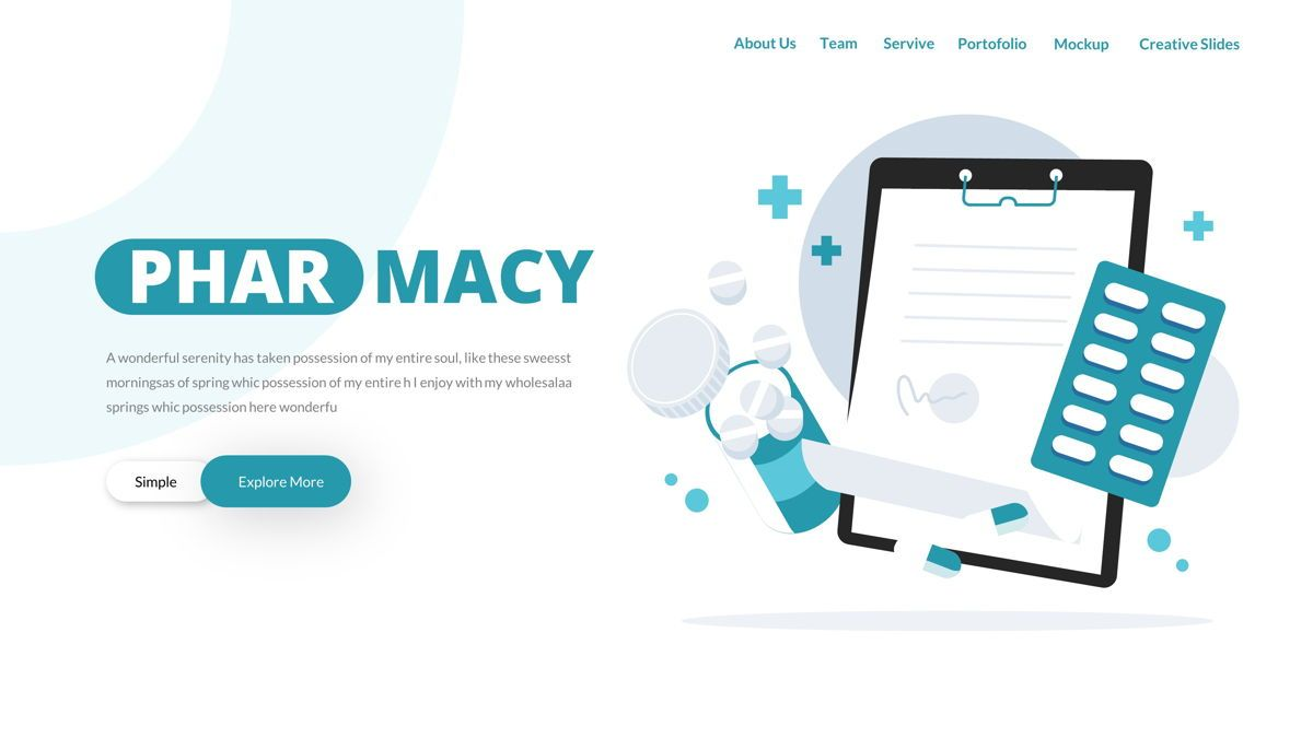 Pharmacy – Creative Business Google Slides Template, Slide 3, 05908, Business Models — PoweredTemplate.com