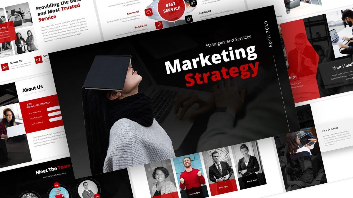 Marketing - Creative Business Google Slides Template, 05911, Business Models — PoweredTemplate.com
