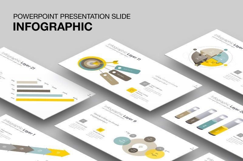 Infographic Powerpoint Presentation Template, 05912, Infographics — PoweredTemplate.com