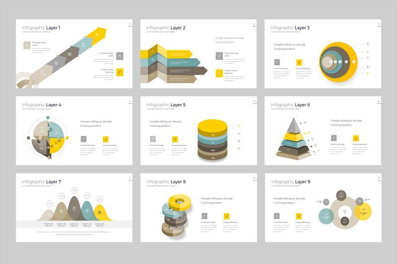 Infographic Powerpoint Presentation Template, Slide 2, 05912, Infographics — PoweredTemplate.com