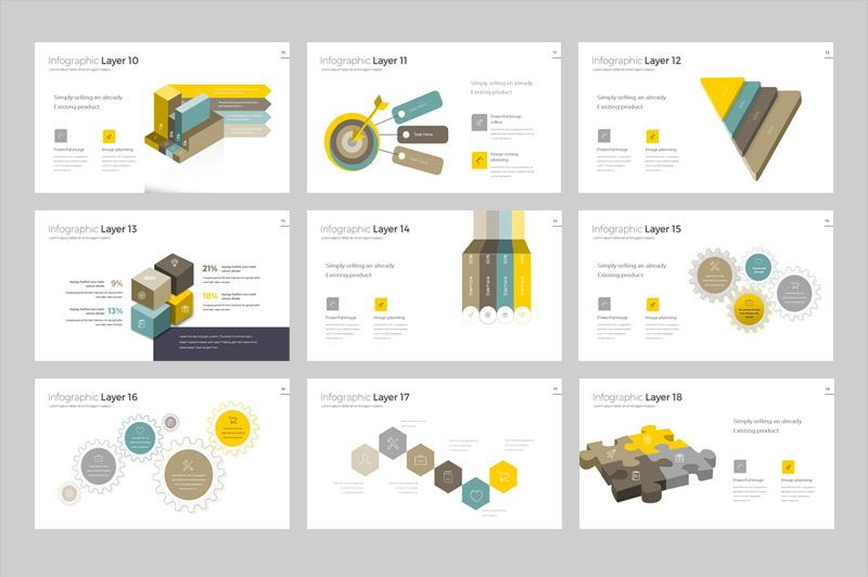 Infographic Powerpoint Presentation Template, Slide 3, 05912, Infographics — PoweredTemplate.com