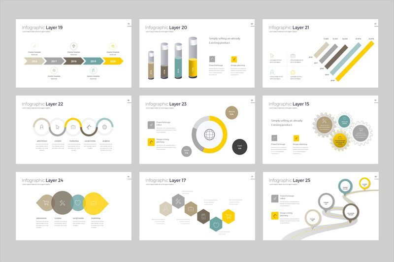 Infographic Powerpoint Presentation Template, Slide 4, 05912, Infographics — PoweredTemplate.com