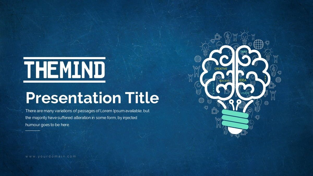 The Mind Power Point Presentation Template, 05913, Business Models — PoweredTemplate.com