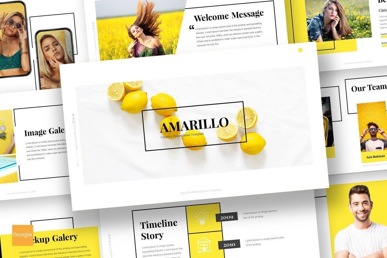 Amarillo - Google Slides Template, 05917, Presentation Templates — PoweredTemplate.com