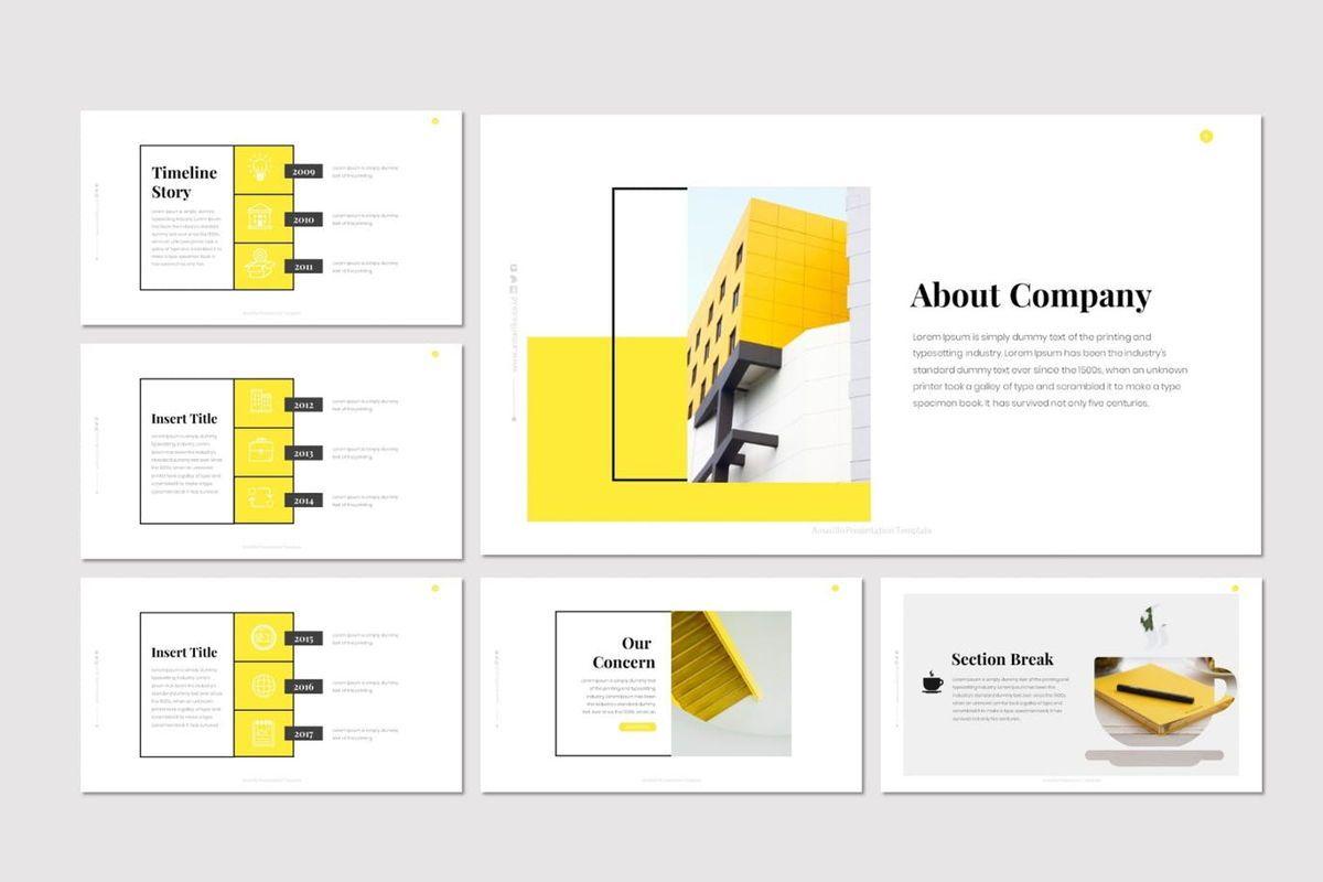 Amarillo - Google Slides Template, Slide 3, 05917, Presentation Templates — PoweredTemplate.com