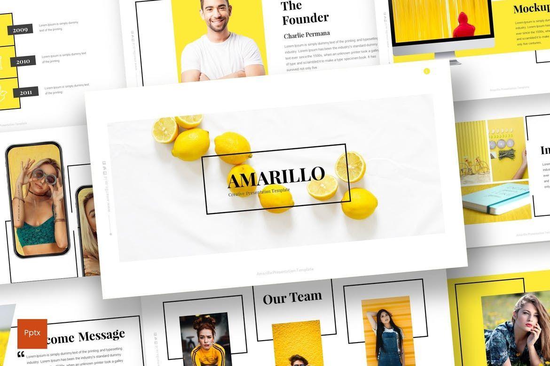 Amarillo - Powerpoint Template, 05919, Presentation Templates — PoweredTemplate.com