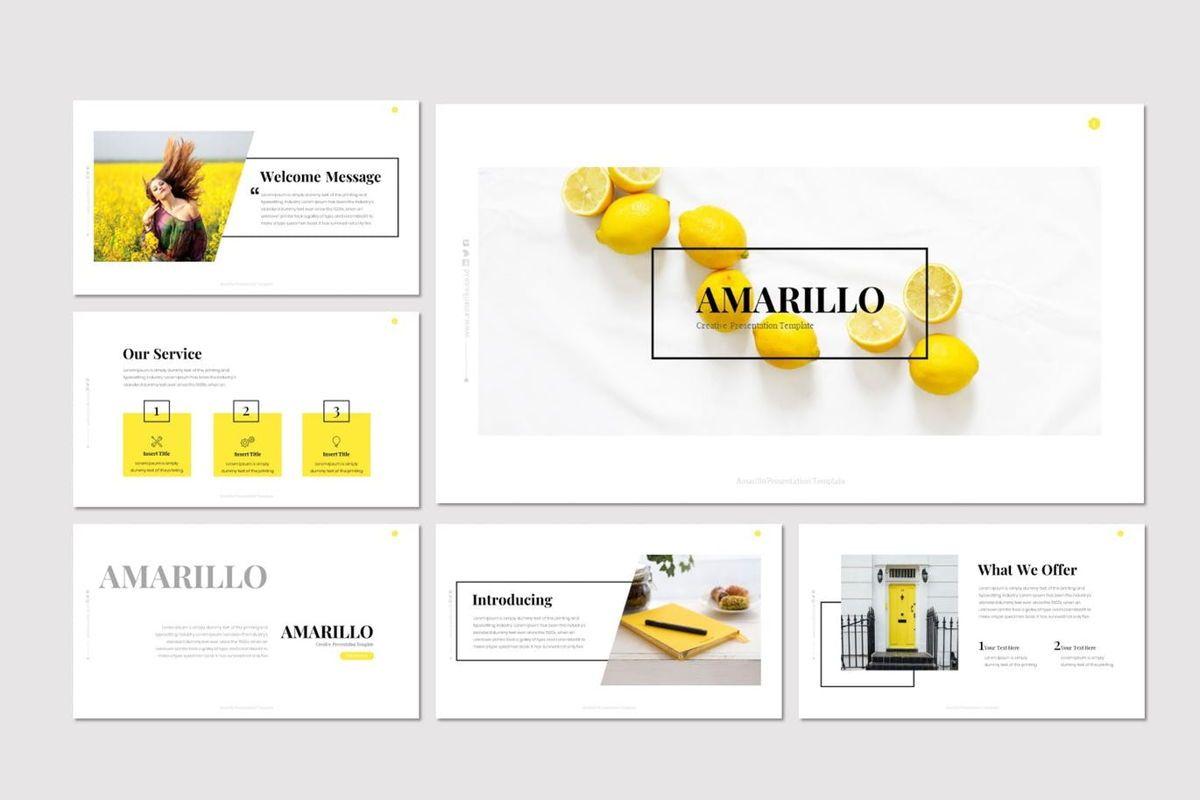 Amarillo - Powerpoint Template, Slide 2, 05919, Presentation Templates — PoweredTemplate.com