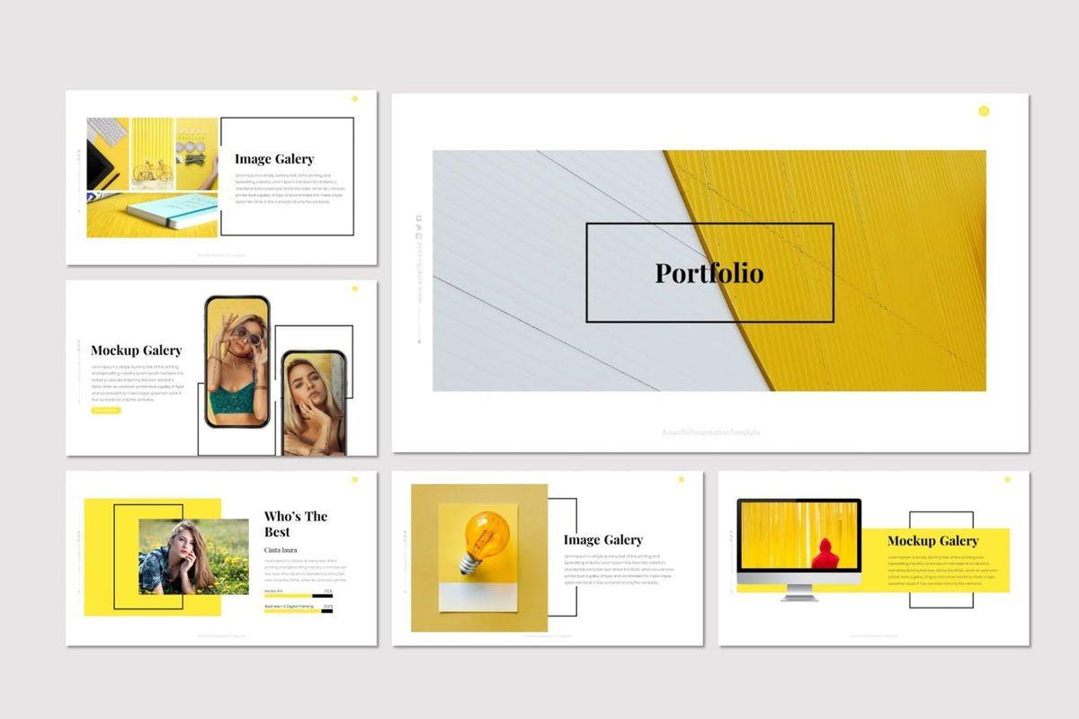 Amarillo - Powerpoint Template, Slide 5, 05919, Presentation Templates — PoweredTemplate.com