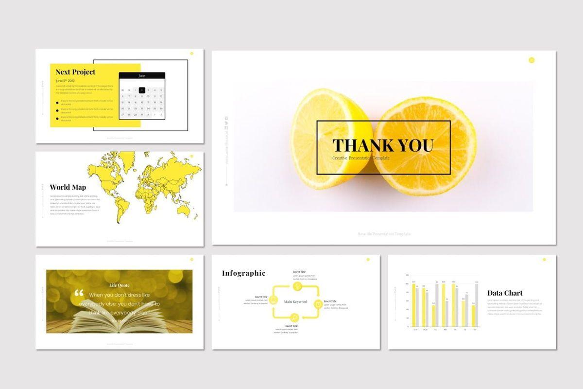 Amarillo - Powerpoint Template, Slide 6, 05919, Presentation Templates — PoweredTemplate.com