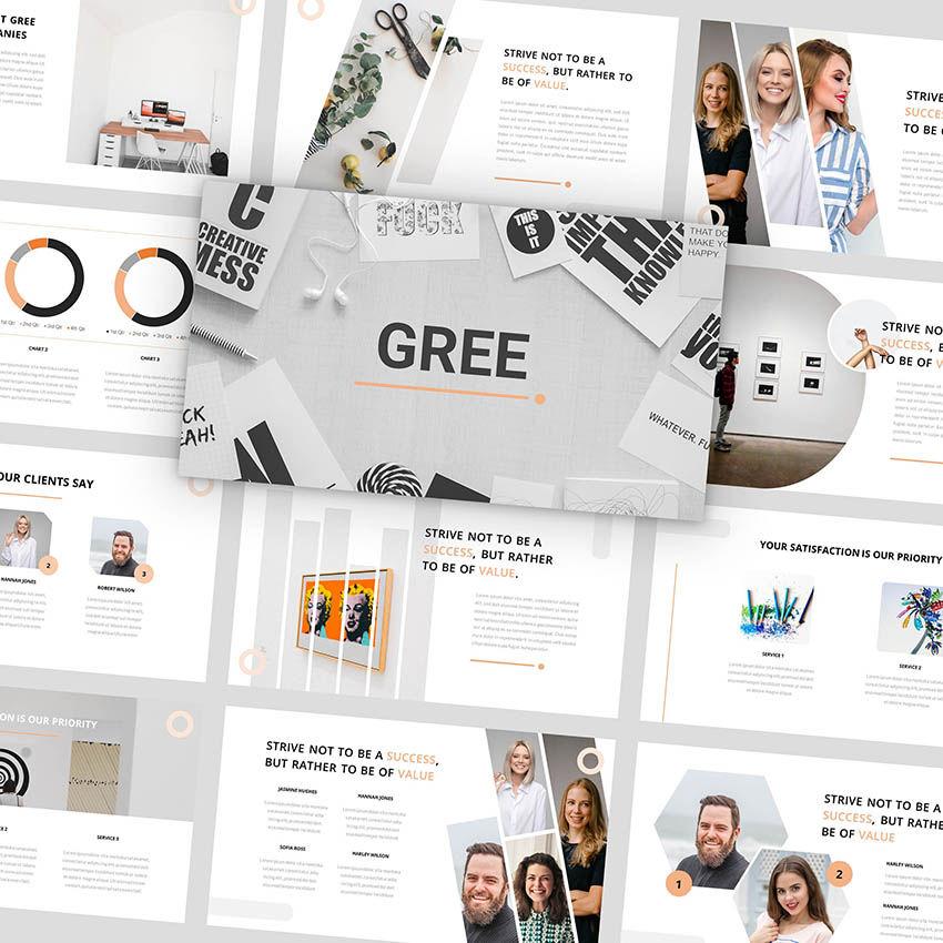 Gree - PowerPoint Template, 05921, Presentation Templates — PoweredTemplate.com