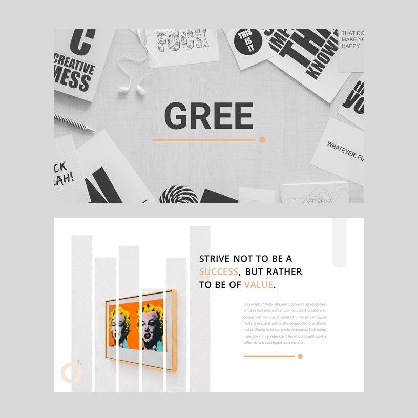 Gree - PowerPoint Template, Slide 2, 05921, Presentation Templates — PoweredTemplate.com