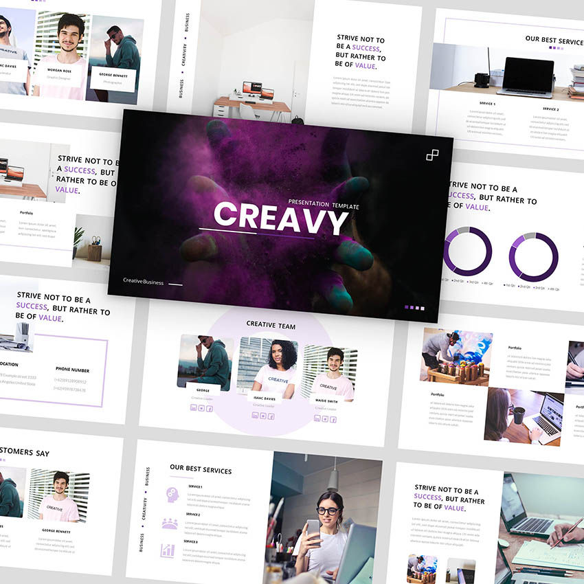 Creavy - PowerPoint Template, 05923, Presentation Templates — PoweredTemplate.com