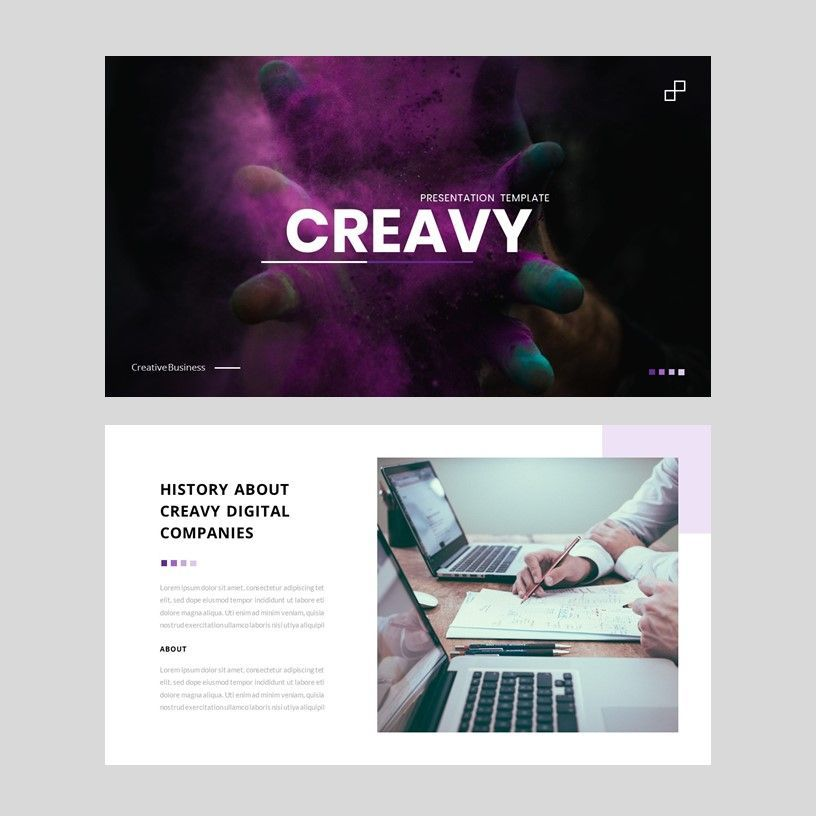 Creavy - PowerPoint Template, Slide 2, 05923, Presentation Templates — PoweredTemplate.com
