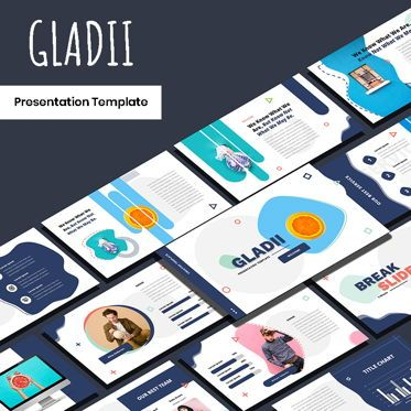 Presentation Templates: Gladii - Creative Powerpoint Template #05924