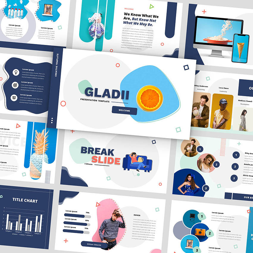 Gladii - Creative Powerpoint Template, 05924, Presentation Templates — PoweredTemplate.com