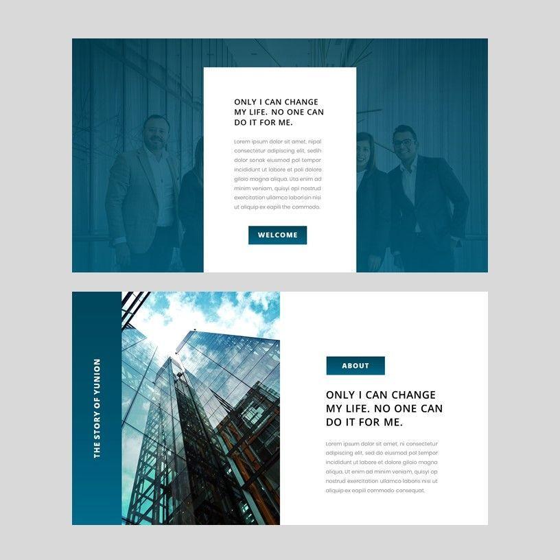 Yunion - PowerPoint Template, Slide 11, 05926, Presentation Templates — PoweredTemplate.com