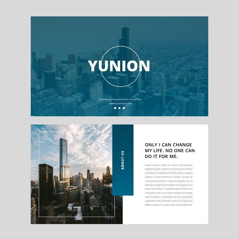 Yunion - PowerPoint Template, Slide 2, 05926, Presentation Templates — PoweredTemplate.com