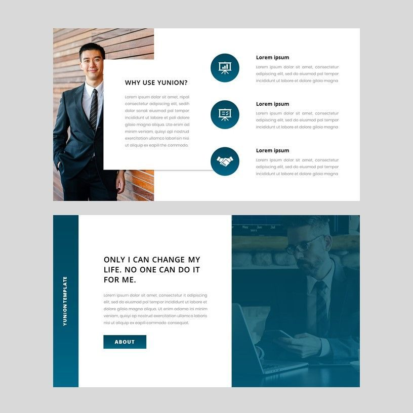 Yunion - PowerPoint Template, Slide 3, 05926, Presentation Templates — PoweredTemplate.com