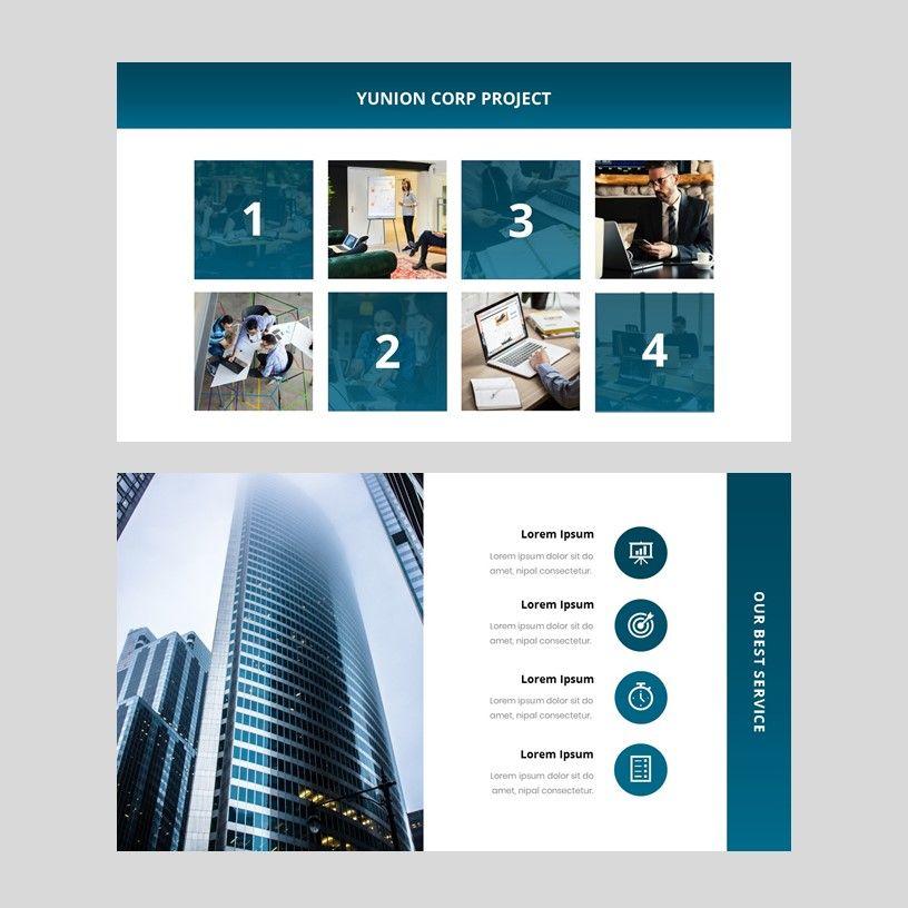 Yunion - PowerPoint Template, Slide 7, 05926, Presentation Templates — PoweredTemplate.com