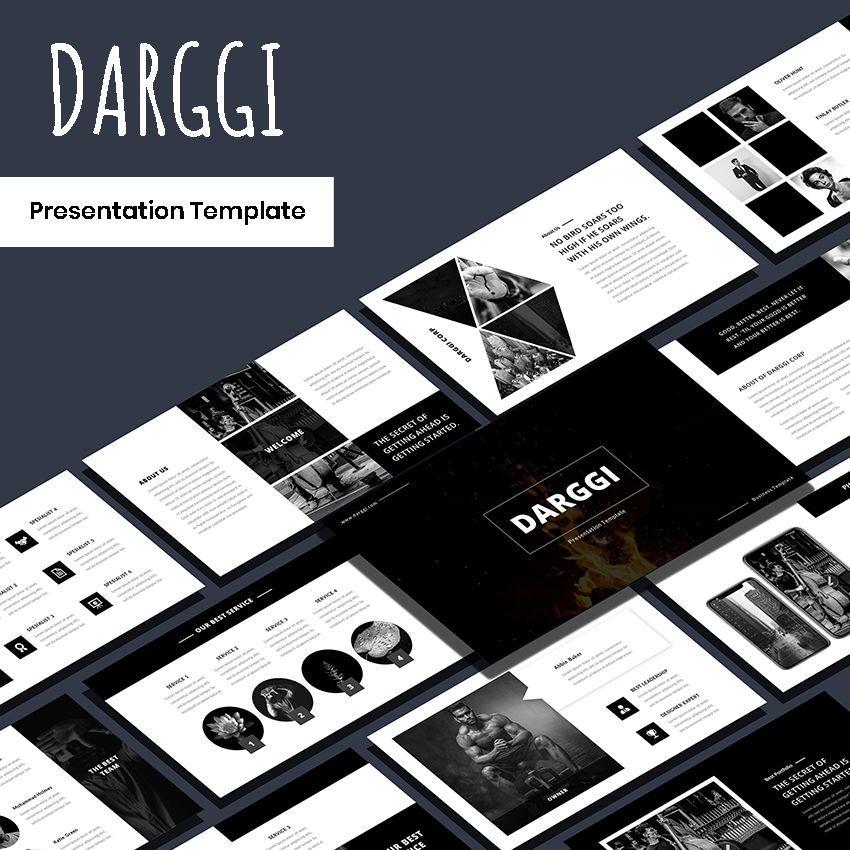Darggi - PowerPoint Template, 05931, Presentation Templates — PoweredTemplate.com