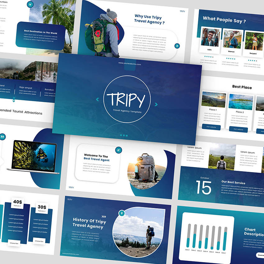 Tripy - Google Slides Template, 05934, Presentation Templates — PoweredTemplate.com