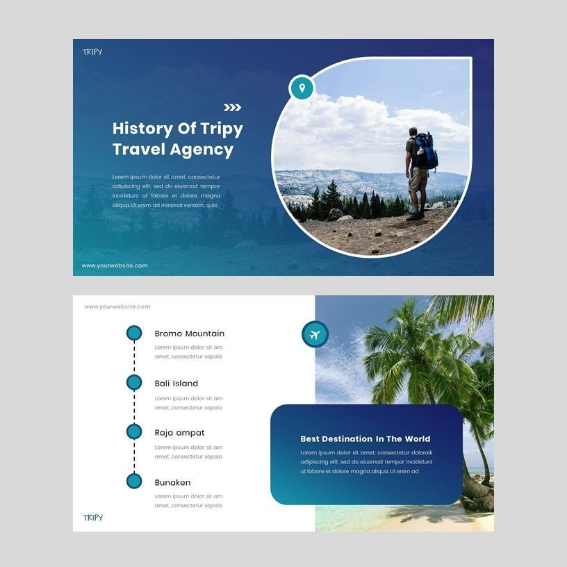 Tripy - Google Slides Template, Slide 3, 05934, Presentation Templates — PoweredTemplate.com