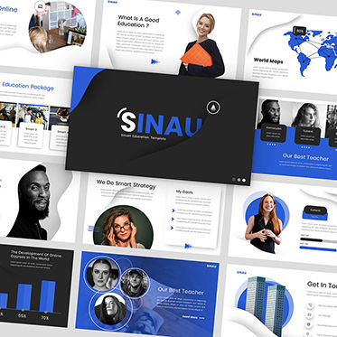 Presentation Templates: Sinau - Google Slides Template #05935