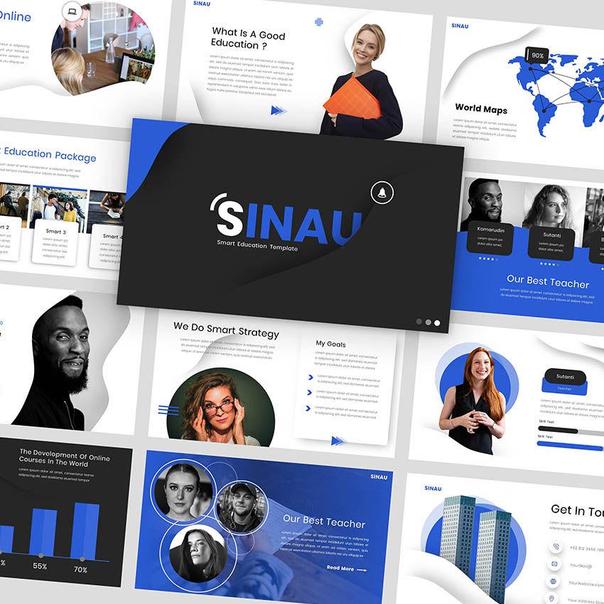 Sinau - Google Slides Template, 05935, Presentation Templates — PoweredTemplate.com