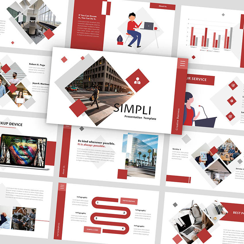 Simpli - Google Slides Template, 05936, Presentation Templates — PoweredTemplate.com
