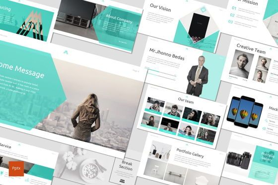 Presentation Templates: Amous - Powerpoint Template #05937