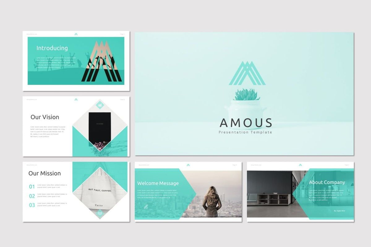 Amous - Powerpoint Template, Slide 2, 05937, Presentation Templates — PoweredTemplate.com